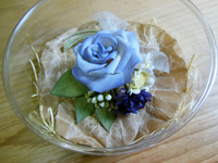 Blue Rose Corsage