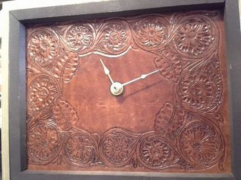 Leather clock that I made