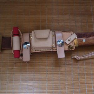 Sheath knife scabbard