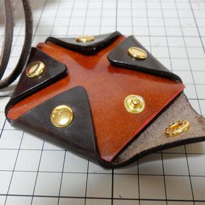 Pentagon shaped coin case